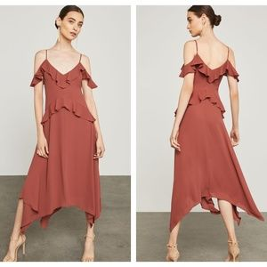 BCBGMaxAzria Lissa Asymmetrical Slip Dress